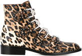 Givenchy leopard print boots - women - Leather - 36