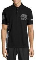 McQ by Alexander McQueen Bird Logo Graphic Short-Sleeve Polo Shirt