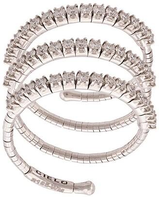 Mattia Cielo 18kt White Gold Three Circle Ring