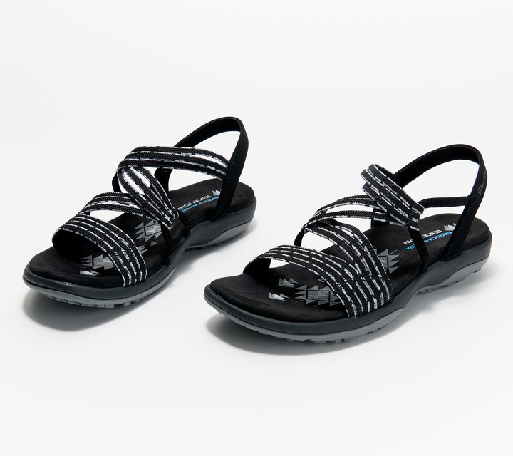 Skechers Gore Cross-Band Sandals - Reggae Slim Stretch Appeal