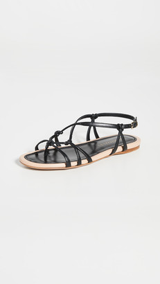 Zimmermann Knotted Strap Flat Sandals