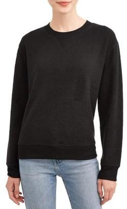 No Boundaries Juniors' Crewneck Fleece Sweatshirt