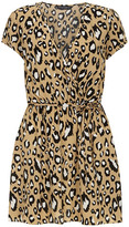 Dorothy Perkins Tall camel animal wrap tunic