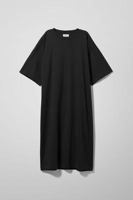 Weekday Ines T-Shirt Dress - Black
