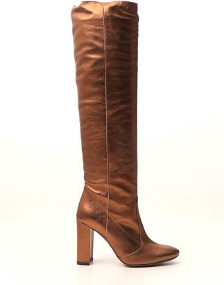L'Autre Chose Metallic Block Heel Boots