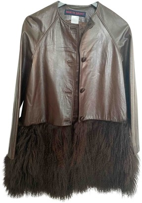 Martin Grant Brown Leather Coat for Women