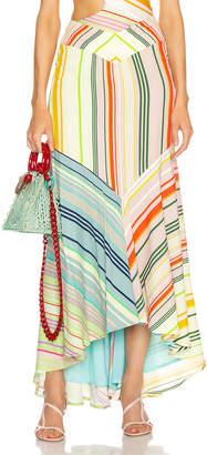 Silvia Tcherassi Beverly Skirt in Summer Stripes | FWRD