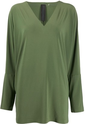 Norma Kamali long sleeve blouse