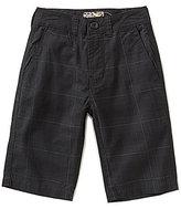 First Wave Big Boys 8-20 Plaid Twill Shorts