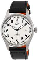 IWC Men's Pilots 40mm Black Leather Band Steel Case Automatic -Tone Dial Analog Watch IW327002