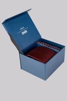 Moss Bros Wine Spot & Paisley Tie & Pocket Square Gift Set