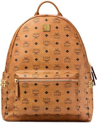 MCM Medium Stark Visetos Coated Canvas Backpack