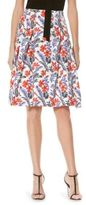 Carolina Herrera Floral Printed Skirt