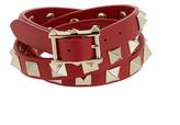 Valentino Rockstud wrap-around leather bracelet