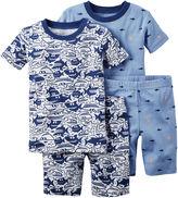 Carter's 4-pc. White Shark Pajama Set - Baby Boys newborn-24m