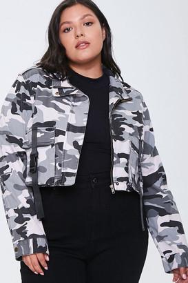 Forever 21 Plus Size Camo Print Jacket
