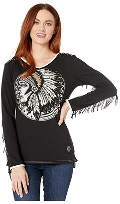 Double D Ranchwear No Time for Fussing or Fighting Tee (Black) Women's Clothing