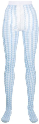 Thom Browne Gingham Check Tights
