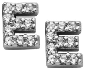 Macy's Mini Initial Stud Cubic Zirconia Earrings