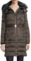 Vince Camuto Hooded Down Belted Coat