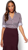 New York & Co. 7th Avenue SecretSnap Madison Stretch Shirt - Stripe