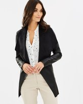 Wallis Longline Waterfall PU Jacket