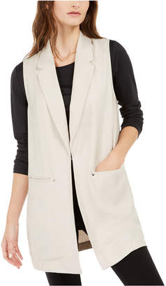 Alfani Sleeveless Notch-Collar Vest