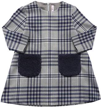 Il Gufo CHECK DRESS W/ TERRYCLOTH POCKETS