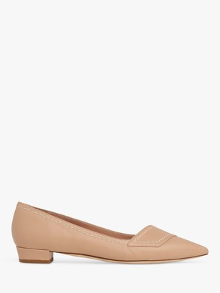 LK Bennett Polly Leather Pointed Toe Court Shoes