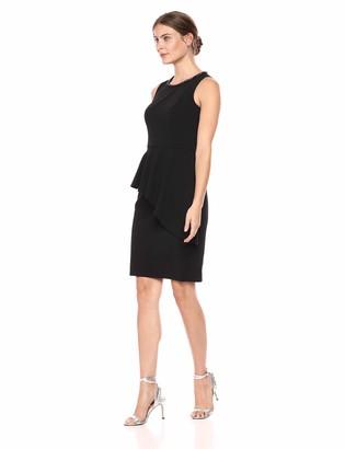 Brinker & Eliza Women's Sleeveless Sheath Dress with Peplum Overlay