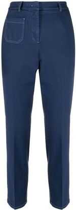 Incotex High-Rise Straight Leg Jeans