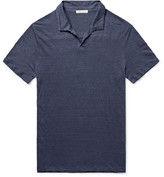Onia Shaun Slim-fit Linen Polo Shirt