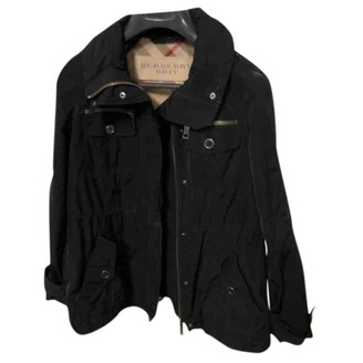 Burberry Black Polyester Leather jackets