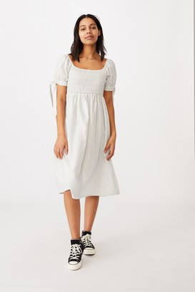 Cotton On Woven Cecile Short Sleeve Midi Dress