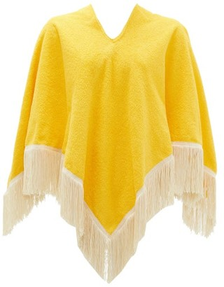 Gabriel For Sach - Fringed Cotton-terry Poncho - Yellow Multi