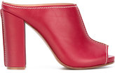 Erika Cavallini - chunky heel mules - women - Leather - 37