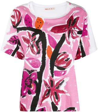 Marni floral print short-sleeve T-shirt