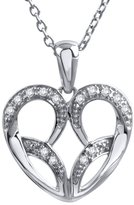 Jessica Simpson Sterling Silver Diamond Accent Heart Pendant