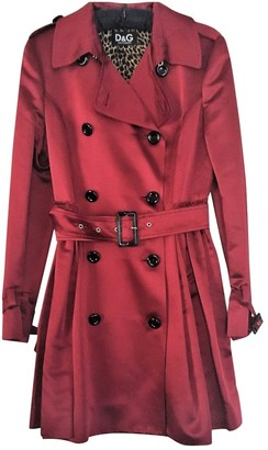 Dolce & Gabbana Burgundy Coat for Women