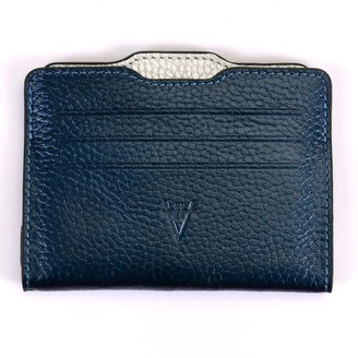 Atelier Hiva Double Card Holder Metallic Navy Blue & Silver