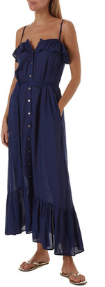 Melissa Odabash Kyla Button-Down Ruffle Coverup Dress