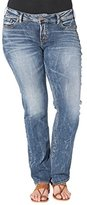 Silver Jeans Co. Women's Plus Size Jeans Suki Mid Rise Slim Boot Jean