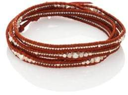 Chan Luu Silver& Leather Wrap Bracelet