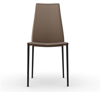 Calligaris Aida Upholstered Dining Chair Upholstery Color: Desert Vintage, Frame Color: Matt Black