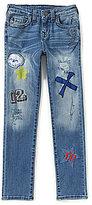 True Religion Big Boys -20 Rocco Patches Skinny Jeans