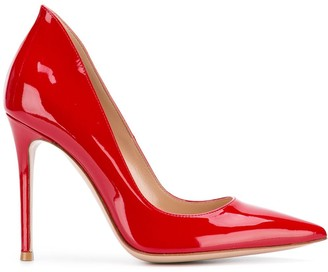 Gianvito Rossi Varnished Pointed Pumps