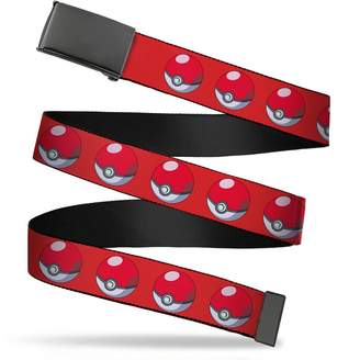 Pokemon Buckle Down Buckle-Down Men's Buckle-Down Web Belt 1.25""
