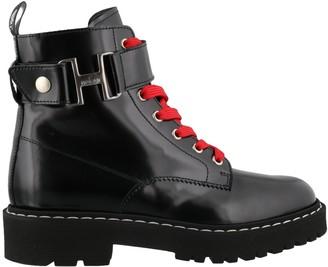 Hogan Lace-Up Combat Boots