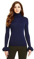 Antonio Melani Lane Ruffle Cuff Turtleneck Wool Sweater