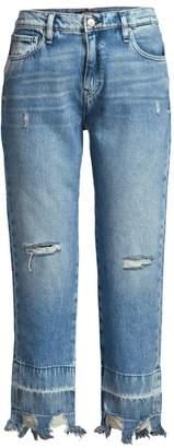 Hudson Jeans Jessie Distressed Hem Boyfriend Jeans